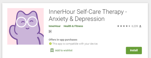 inner hours self-care therapy - 10 health mobile apps