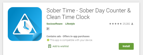 Sober Time - Download from Google Play Store